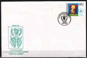 Cuba, Scott cat. 4701. World Food Program issue. First day cover. ^