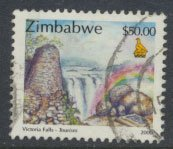 Zimbabwe SG 1020  SC#  852 Used  Victoria Falls  see detail and scan