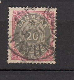 J26560 jlstamps 1875-9 denmark part of set use #31 perf 14 x 13 1/2 numeral
