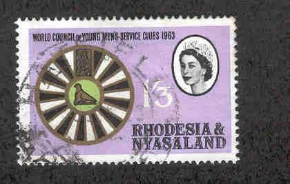 RHODESIA & NYASALAND 190 USED, YOUNG MENS SERVICE CLUBS