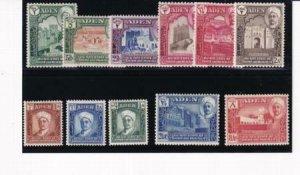Aden - State of Shihr and Mukalaka 1942 SC 1-11 MLH Set