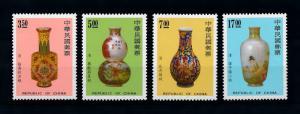 [79342] Taiwan 1992 Art Enamel Vases  MNH