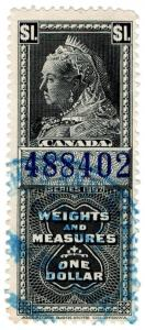 (I.B) Canada Revenue : Weights & Measures $1