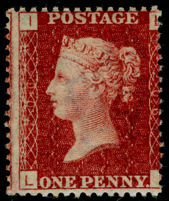 SG44, 1d lake-red plate 206, NH MINT. Cat £75+. LI