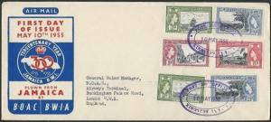 JAMAICA 1955 cover POST 300 OFFICE TRD cancel..............................47402