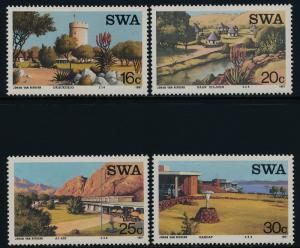 South West Africa 586-9 MNH Resorts, Tourism, Architecture