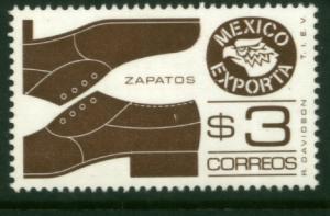 MEXICO Exporta 1118 $3P Shoes. Unwmk Fosfo Paper 4 MNH
