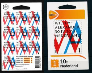 [16730] Netherlands Niederlande 2013 Willem-Alexander Inauguration Booklet 1 MNH