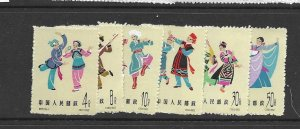 china (PRC) 696-701 1963 set 6 mint ng as issued