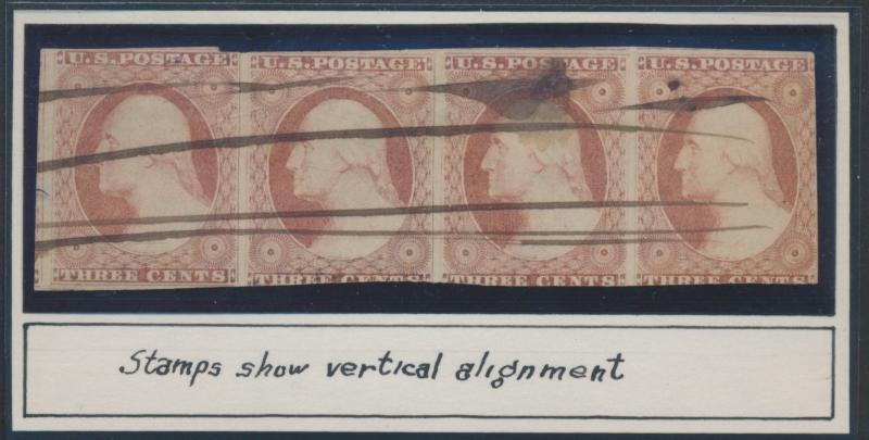 #10 FINE USED STRIP OF 4 CV $1,666.00 HV6964