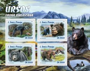 SAO TOME E PRINCIPE 2016 SHEET BEARS WILDLIFE st16309a