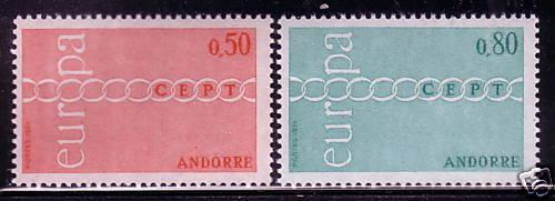 French Andorra 205-6 NH ! scv $ 60 ! see pic !