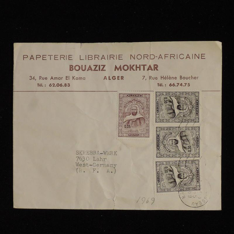ZS-AC505 ALGERIA IND - Cover, 1969 From Algeri To Lahr West Germany