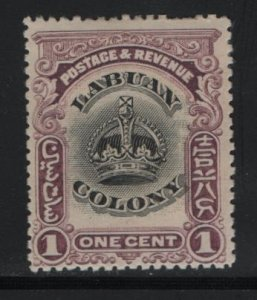LABUAN, 99A, HINGED, 1902-1903, CROWN