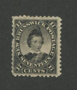 1860 New Brunswick Stamp #11 17c Mint Hinged F/VF Disturbed Original Gum