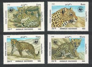 Afghanistan WWF Leopard 4v SG#1070-1073 MI#1453-1456 SC#1172-1175