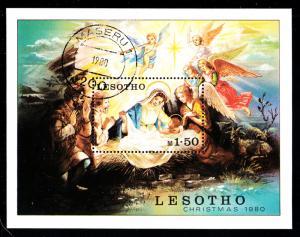 Lesotho used 1980 #318 1.50m Nativity Scene Christmas