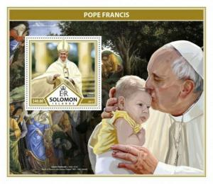 Solomon Islands - 2017 Pope Francis - Stamp Souvenir Sheet - SLM17310b