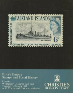 British Empire Stamps & Postal History, Christie's Robson Lowe, Mar. 13-14, 1991