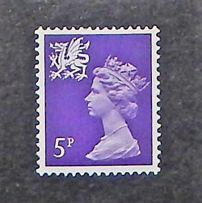Wales & Monmouthshire WMMH 5. 1971-93 5p Machin, NH