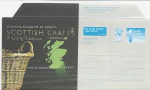 Great Britain-Scotland   Aerogramme  Scottish Crafts  (1)  Mint