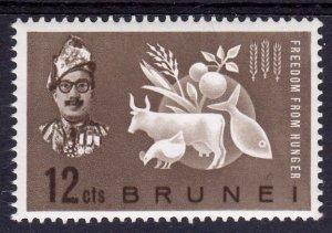 Brunei 1963 Sc#100 Freedom from Hunger-Sultan Omar (1) MNH