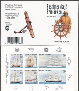 1997 Finland 1385-1390/MH46 Ships with sails