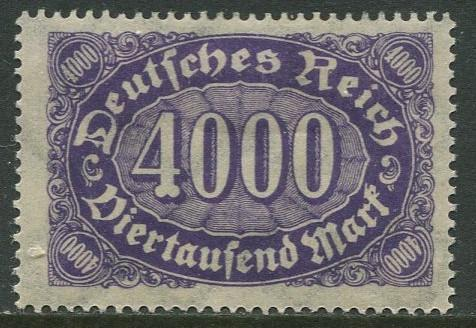 GERMANY. -Scott 207 - Definitives -1922- MLH - Wmk 126 - Single 4000m Stamp