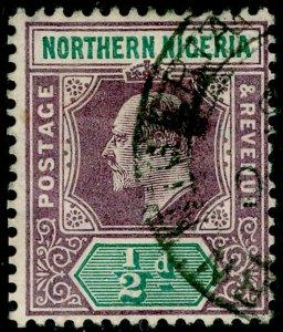 NORTHERN NIGERIA SG20, ½d dull purple & green, FINE USED. WMK MULT CA