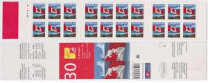 Canada -#BK215Ac Unlisted VARIETY 1999 Flag Booklet