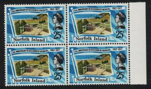 Norfolk Royal Silver Jubilee 1v Block of 4 Margin SG#196 SC#218
