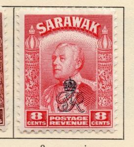 Sarawak 1947 Early Issue Fine Mint Hinged Optd 8c. 052022