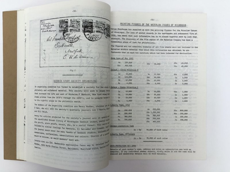 The Central American Newsletter. Two Volumes, Issues 1-40 from 1980-90