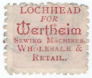 (I.B) New Zealand Postal : Adson (Lochhead for Wertheim Sewing Machines)