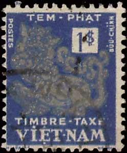 Vietnam Scott J6 Used.