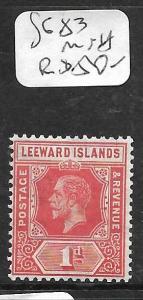 LEEWARD ISLANDS  (PP0105B) KGV  DIE I  1D  SG  83  MNH