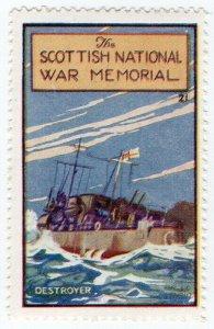 (I.B) Cinderella Collection : The Scottish War Memorial (Destroyer)