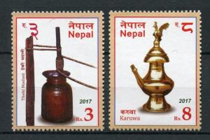 Nepal 2017 MNH Traditional Pots Karuwa 2v Set Cultures Traditions Stamps