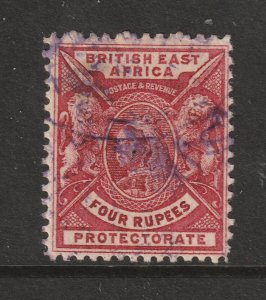 British East Africa a 4 rupee QV but fiscal I think