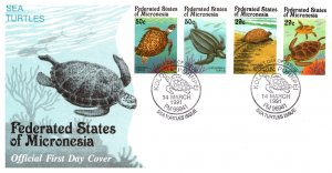 Micronesia, Worldwide First Day Cover, Marine Life