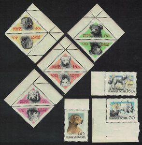 Hungary Hunting Dogs 7v Varieties SG#1448-1455 SC#1148-1155