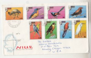 NIUE, 1986 Birds,  Stampex Adelaide  set of 8 on First Day cover.