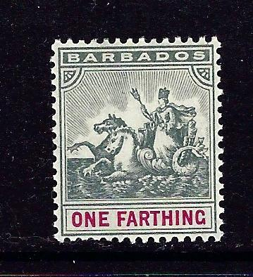 Barbados 90 MH 1904 issue