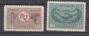 J29281, 1965  iran sets of 1 mnh #1324, 1325