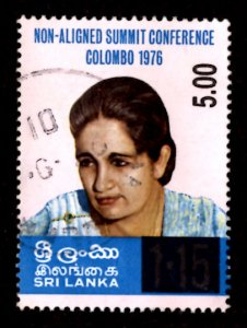 Sri Lanka SURCHARGE 2001 Sirimavo Bandaranaike 5r on 1.15r Sc.1347 Used (#4)