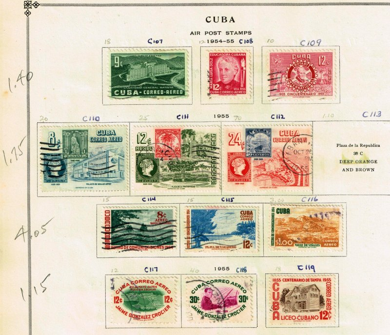 CUBA STAMP Airmail Stamps Collection Lot #9