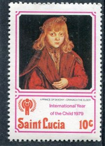 Saint Lucia 1980 PRINCE OF SAXONY IYC 1 value Perforated Mint (NH)