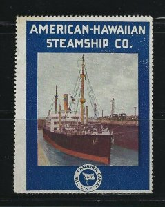 UNITED STATES - AMERICAN HAWAIIAN STEAMSHIP CO. POSTER STAMP MNH