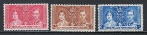 Bechuanaland 1937 Coronation Omnibus Issue Scott # 121 - 123 MH