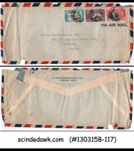 TRINIDAD & TOBAGO - 1942 AIR MAIL ENVELOPE TO MONTREAL CANADA WITH KGVI STAMP